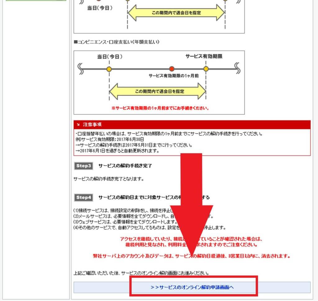 マイIP/セカイVPNの解約の仕方3