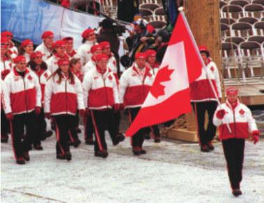 カナダのオリンピック選手がルーツのユニフォームを着ている