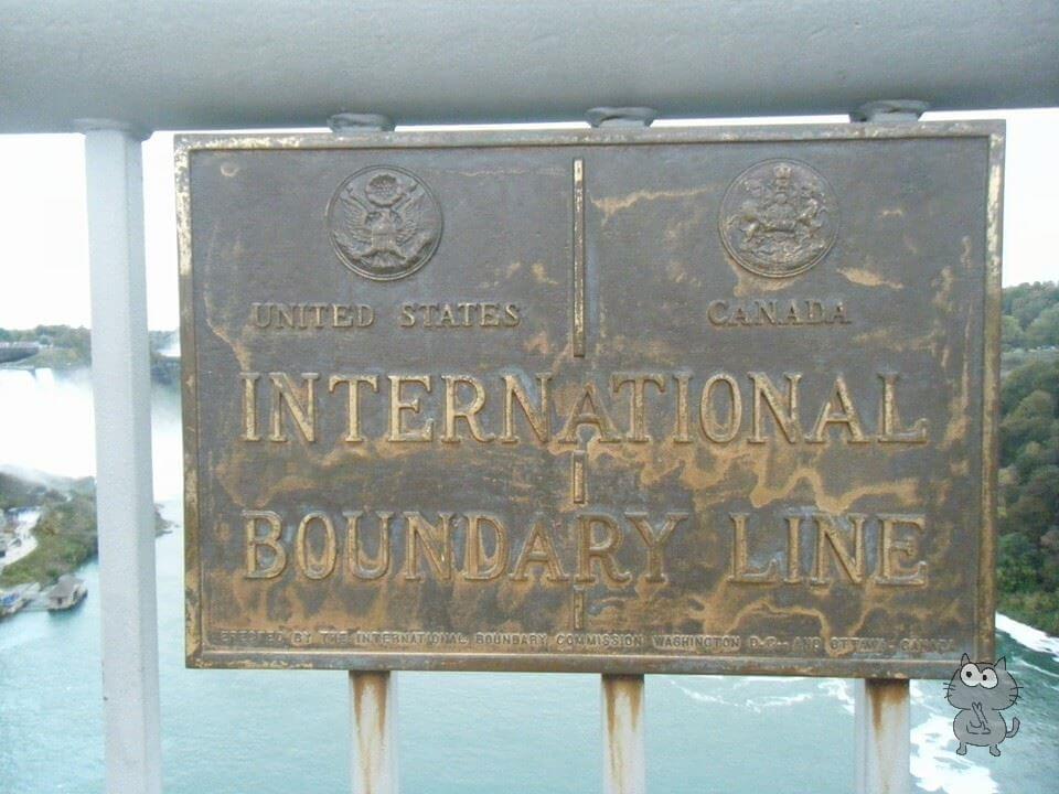 アメリカとカナダの国境