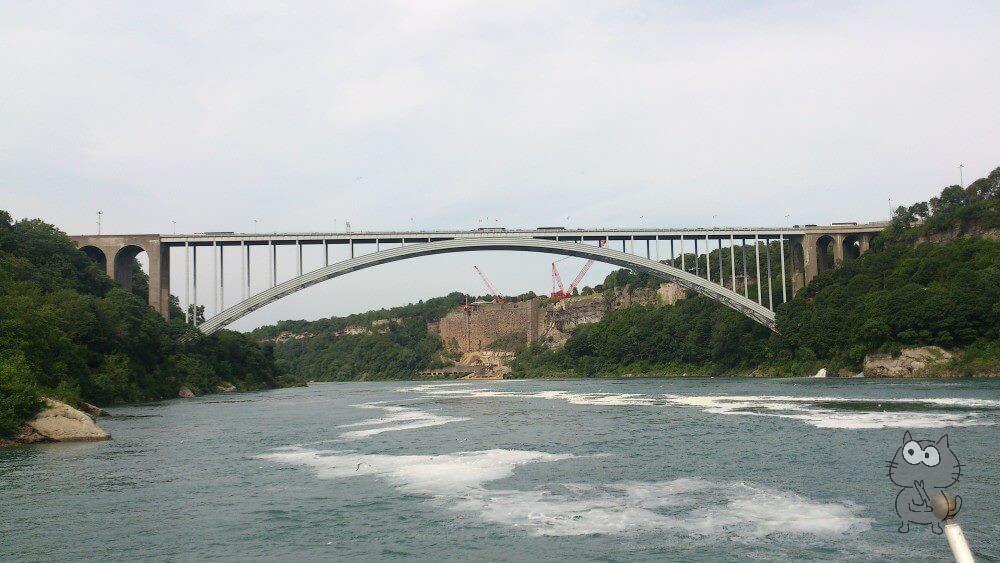 ナイアガラの滝のレインボーブリッジ