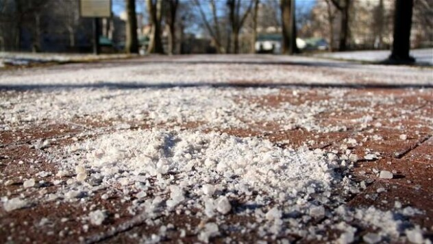 カナダ/トロントの雪を溶かす塩