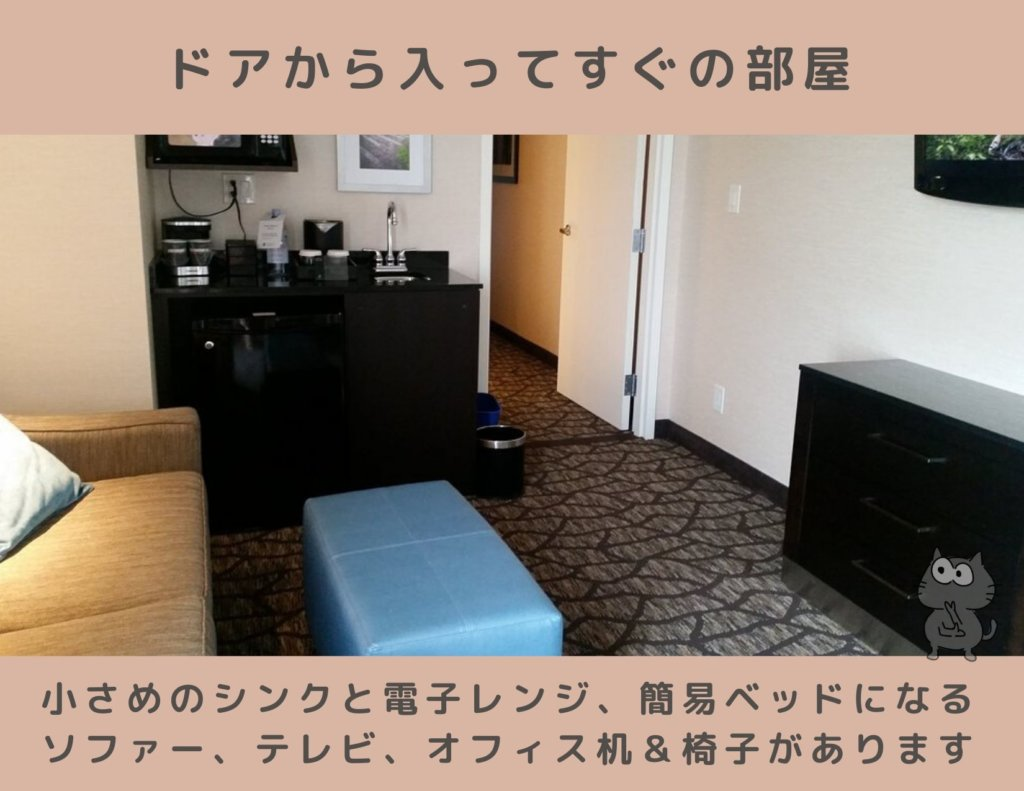 エンバシー・スイーツ・ナイアガラ・ホテルのスイートルーム