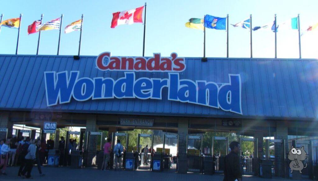 カナダ ワンダーランドのエントランス