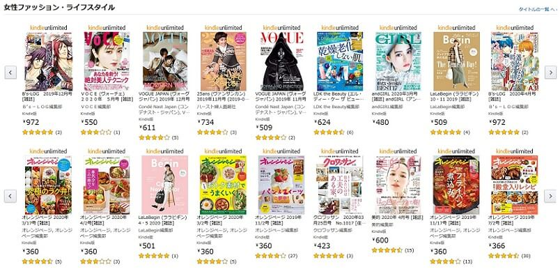 Kindle Unlimited雑誌の評価