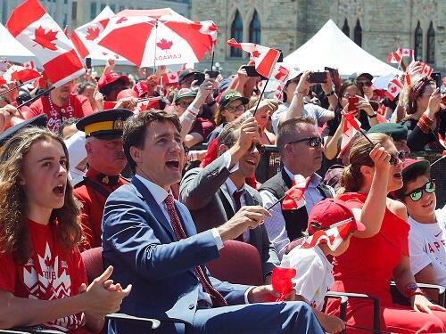 カナダデーのトルドー首相もお祝い