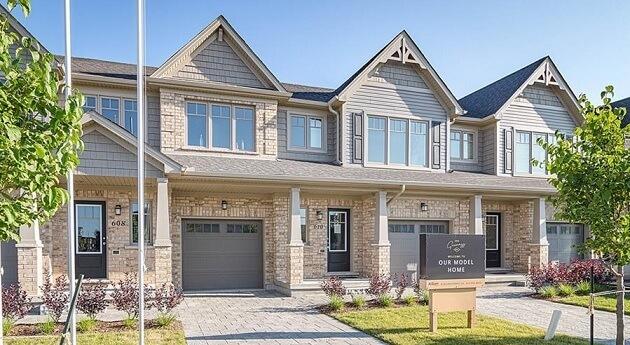 カナダの家の種類:タウンハウス