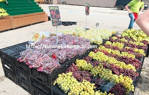 St. JacobsのFarmers Marketのフルーツ