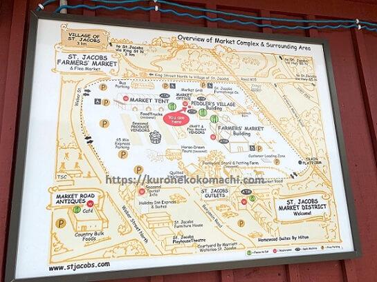 St. JacobsのFarmers Marketマップ